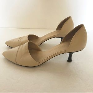 Jenni Kayne Leather Nude Kitten Heels size 37